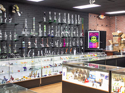 We have a vast selection of hookahs and bongs.